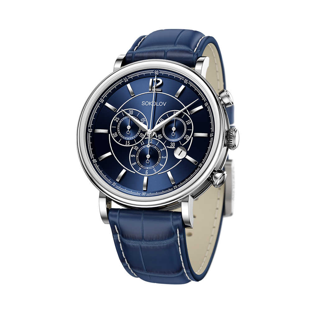 Мужские серебряные часы арт. 125.30.00.000.05.03.3