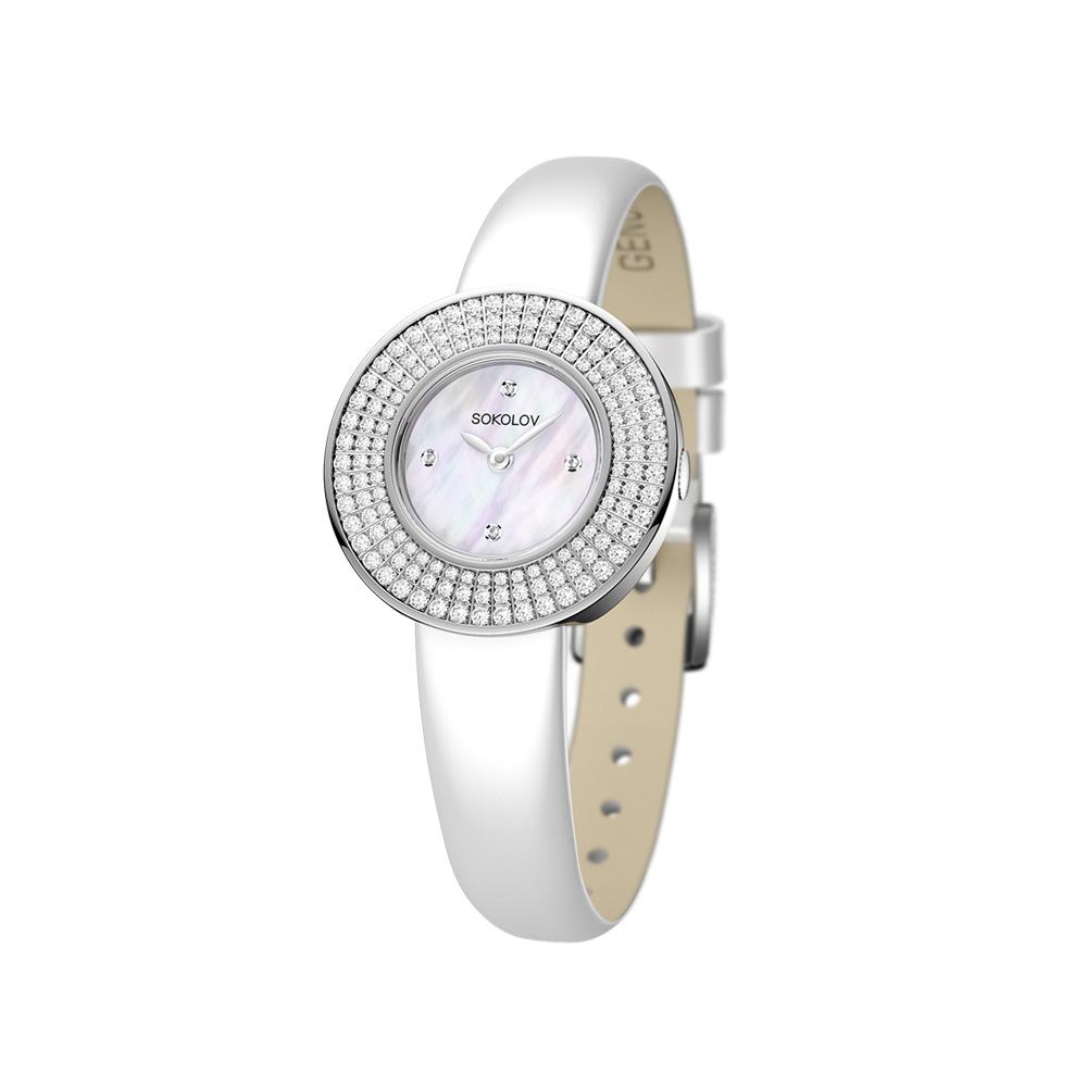 Женские серебряные часы, арт. 128.30.00.001.01.02.2