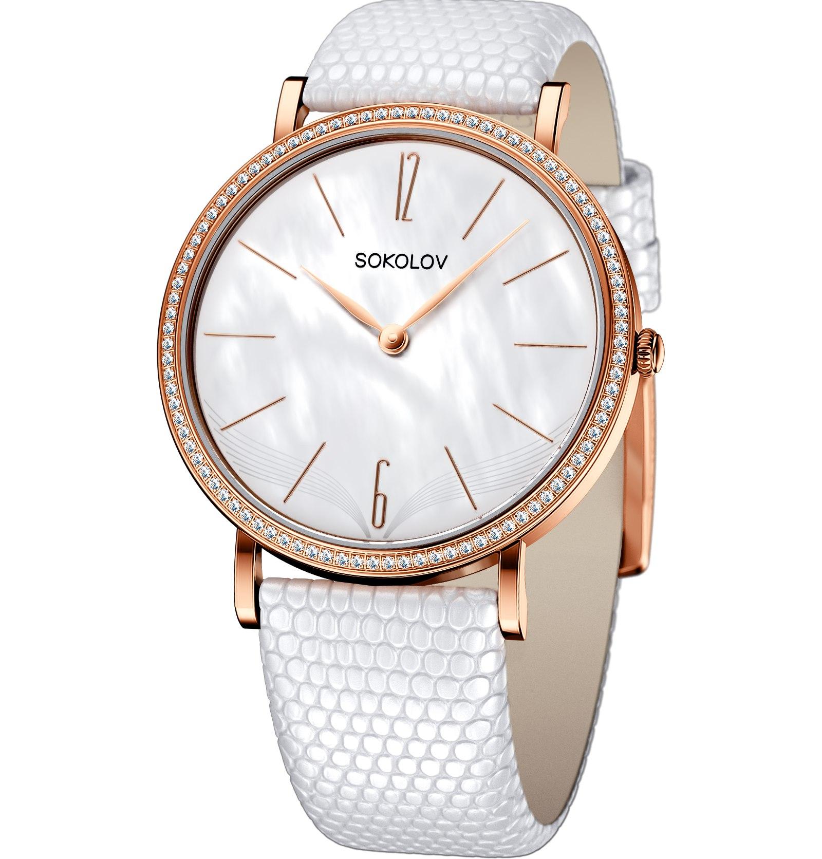 Женские золотые часы, арт. 110.01.00.001.06.02.2