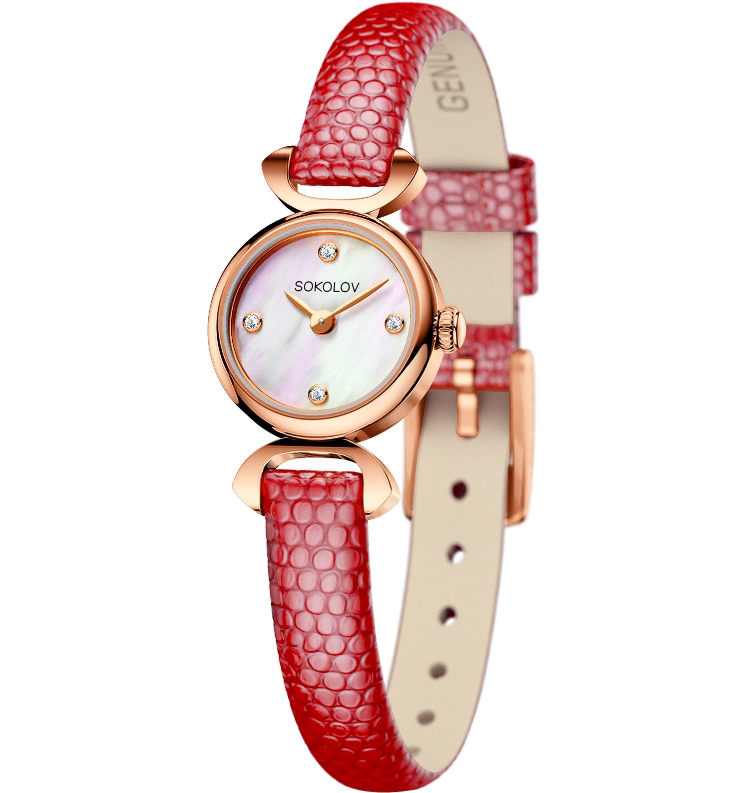 Женские золотые часы, арт. 112.01.00.000.01.04.3